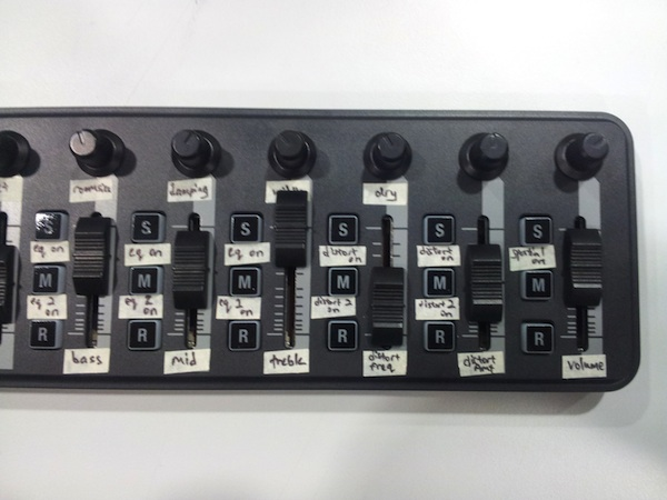 midi controller for sound operation