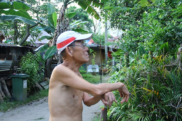 man at Kampong Lorong Buangkok