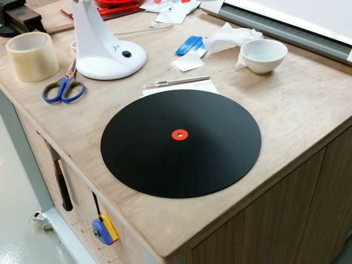 (fake) vinyl record disc