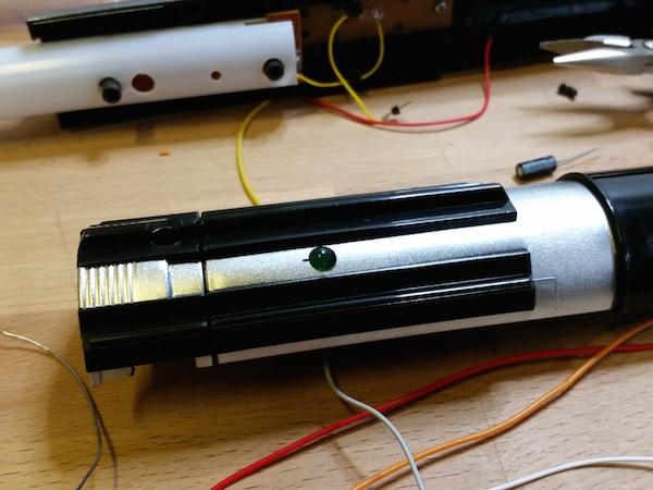 The LED power indicator