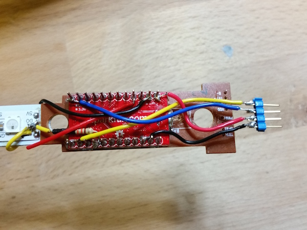 The soldering begins