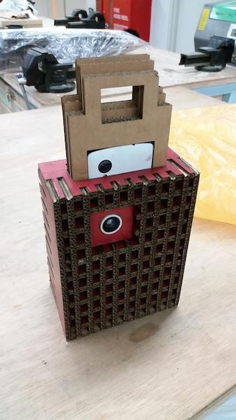 Mithru's cardboard structure