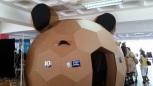 Cardboard teddy bear room